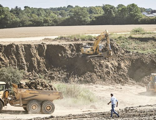 Udgravning af ler