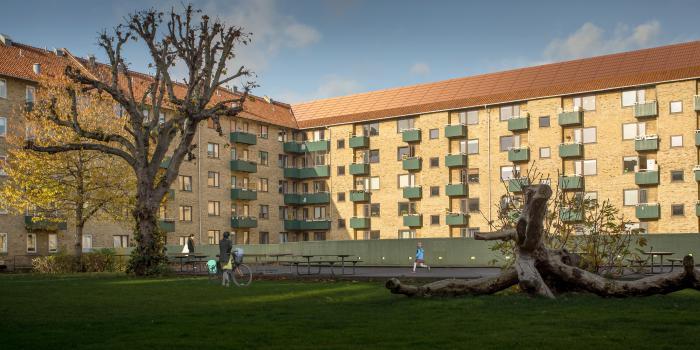 Rendering, gårdrum, Landsdommergården.